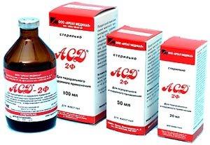 Лечение с помощью  АСД -2Ф  и  АСД -3