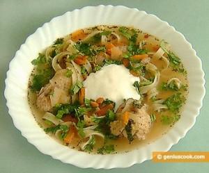 суп на курином бульйоне