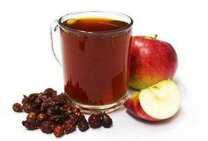 напиток из шиповника с яблоками