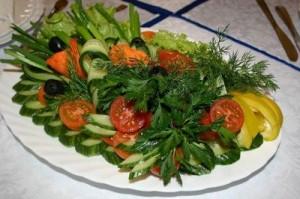меню из овощей