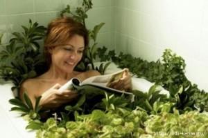 ванна с лекарственными травами